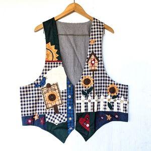 HANDMADE garden sunflower birdhouse vest